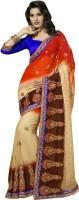 Jiya Self Design, Embroidered Fashion Poly Georgette Saree(Multicolor)
