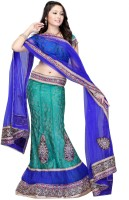 JTInternational Self Design Fashion Net Saree(Blue)