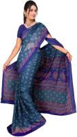 Jiya Self Design, Printed Fashion Chiffon Saree(Multicolor, Blue, Pink, Light Green)