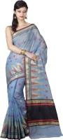 Chandrakala Woven Banarasi Cotton Saree(Blue)