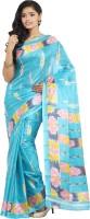Parchayee Self Design Fashion Art Silk Saree(Blue)