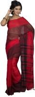 Hawai Polka Print Tant Cotton Saree(Red)