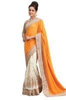 Chirag Sarees Printed Fashion Jacquard Saree(Yellow)