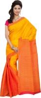 Minu Suits Printed, Solid Fashion Cotton Saree(Yellow)