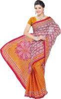 Minu Suits Printed Fashion Cotton Saree(Yellow)