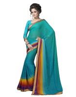 Suvastram Printed Fashion Georgette Saree(Blue)