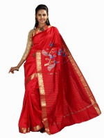 Anushree Saree Self Design Fashion Poly Chanderi Saree(Multicolor)