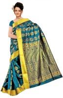 Varkala Silk Sarees Woven Kanjivaram Art Silk, Jacquard, Brocade Saree(Light Green)