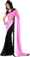 Darkroom Self Design Bollywood Georgette Saree(Pink)