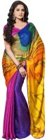 Aksh Fashion Printed Bollywood Handloom Jacquard Saree(Multicolor)