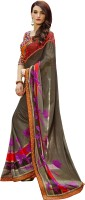 Patiala House Printed, Embroidered Fashion Georgette Saree(Grey)