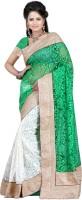 Ansu Fashion Floral Print Fashion Brasso Saree(Green)