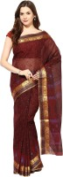 Fostelo Self Design Daily Wear Cotton Saree(Purple)