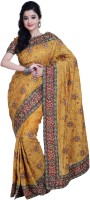 Ambition Embellished Fashion Silk Saree(Mustard)