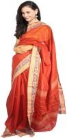 Javuli Woven Madurai Handloom Cotton Saree(Brown)