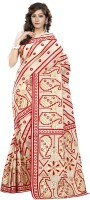 Minu Suits Printed Fashion Cotton Saree(Beige)