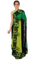 Reme Self Design Fashion Georgette Saree(Pack of 2, Multicolor)