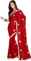 Ansu Fashion Self Design Fashion Georgette Saree(Maroon)