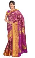 Varkala Silk Sarees Woven Fashion Silk Saree(Purple)