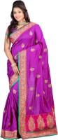 Lookslady Self Design Bhagalpuri Silk Saree(Purple)