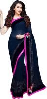 Saara Self Design Fashion Georgette Saree(Blue)