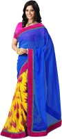 Kanheyas Printed Bollywood Handloom Chiffon Saree(Multicolor)