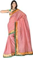 MGS Self Design Fashion Georgette Saree(Pink)