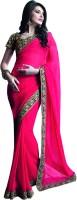 Valeska Solid Fashion Chiffon Saree(Pink)