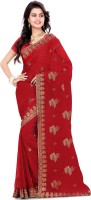 Saree Swarg Self Design Bollywood Georgette Saree(Maroon)