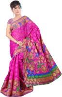 Khoobee Printed Bhagalpuri Cotton Blend Saree(Pink)