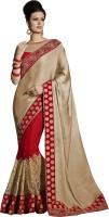 Melluha Embroidered Fashion Chiffon Saree(White)