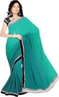 Sonal Trendz Embroidered Bollywood Chiffon Saree(Blue)