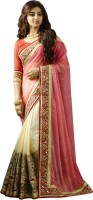 Chirag Sarees Embroidered Bollywood Georgette Saree(Pink)