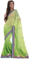 Bahubali Sarees Self Design Fashion Synthetic Saree(Green)