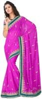MGS Self Design Fashion Georgette Saree(Purple)