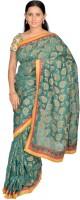 Jagadamba Self Design Kota Doria Cotton Saree(Green)