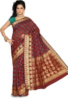 Ishin Printed Fashion Silk Saree(Maroon)