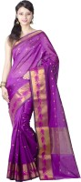 Chandrakala Printed Banarasi Silk Saree(Purple)