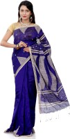 B3Fashion Woven Tangail Handloom Silk Cotton Blend Saree(Purple)