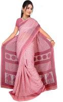 Khoobee Self Design, Printed Fashion Poly Georgette Saree(Pink)