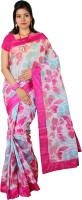 Kanheyas Printed Daily Wear Handloom Cotton Saree(Multicolor)