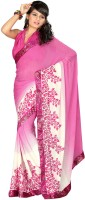 Cenizas Printed Fashion Georgette Saree(Pink)