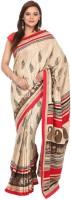 Kataan Bazaar Self Design Banarasi Tussar Silk Saree(Beige)