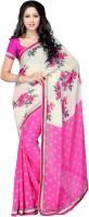 Suvastram Floral Print Fashion Chiffon Saree(Multicolor)
