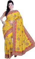 Ambition Embellished Fashion Silk Saree(Yellow)