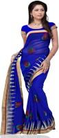 Meghdoot Self Design Fashion Chiffon Saree(Multicolor)