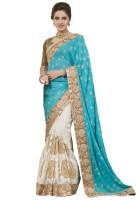 Chirag Sarees Self Design Fashion Net Saree(Multicolor)