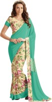 Bhavi Printed Fashion Crepe Saree(Green)
