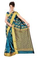 Varkala Silk Sarees Woven Kanjivaram Art Silk, Jacquard, Brocade Saree(Blue)