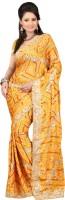Ansu Fashion Graphic Print Fashion Georgette Saree(Yellow)